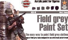 Andrea Miniatures And-Acs-010 Andrea Color Field Grey Paint Set