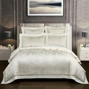 Chic Jacquard Duvet Cover Set Soft Egyptian Cotton Bedding Set Fitted Sheet Set