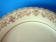"2  Noritake Edgewood Bread &  Butter Plates Pink Blue Flowers Platinum rim 6.25"""