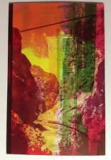 "ERROR TRAIN TROUGH MOUNTAIN ""ONE OF A KIND"" POSTCARD 3 1/2"" by 5 1/2"" 1950s #ER2"