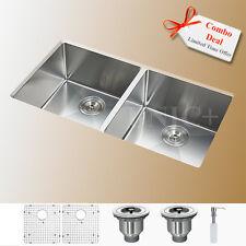 Sink Combo Small Radius Stainless Steel Sink, 50/50 double kitchen sink KUR3318A