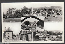 Postcard Clun near Bishop's Castle Shropshire multiview old RP by Frith