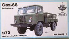 Gaz-66 4x4 vehicle BALATON MODELL BM7212 1:72