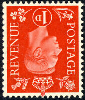 GB - KGVI 1937 SG463Wi 1d scarlet WATERMARK INVERTED - U/M (MOGNH) **
