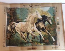 Mustang Horse Royal Paris Needlepoint Canvas 15x19 D'Apres Fullerton 142271 New