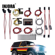 LED Light System Front & Rear Lamp Group for 1/10 RC Traxxas TRX4 Ford Bronco