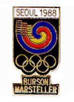 1988 SEOUL XXIVth SUMMER OLYMPIAD BURSON-MARSTELLAR SPONSOR PIN