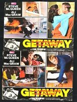 Fotobusta Getaway Sam Peckinpah Steve Mcqueen Ali Macgraw (Neu) Räuber R142