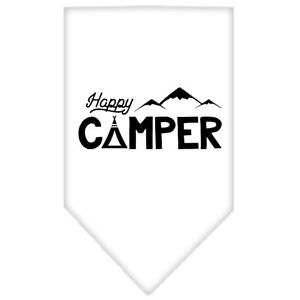 Mirage Pet Products Happy Camper Screen Print Bandana Lime Green Large