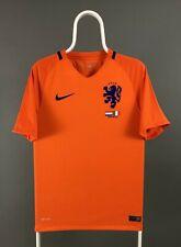 Nike Men's Netherlands 2016 2017 Home Soccer Jersey Orange Blue Italy 28 March