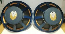 Pair JBL LE15A Speakers From JBL Olympus S7 System All Blue Frames Both Good
