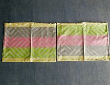 Designers Guild Multi Coloured Silk Satin Cushion Covers (1 pair) 40x30cm