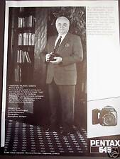 1989 Samuel Ursu photo PENTAX 645 camera vintage ad