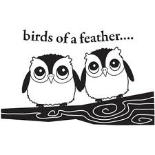 Hampton Art 'Kelly Panacci' Rubber Stamps *Owl birds of a feather* 233883