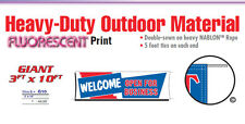 Welcome Open For Business Banner Sign come on in grand opening new owner signs