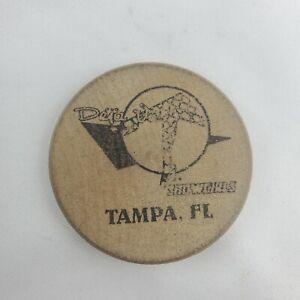 Vintage Tampa FL Showgirls Wooden Nickel Token Strip Club Deja Vu