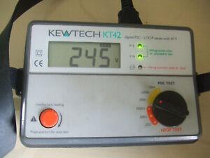 Untested - Kewtech KT42 Digital PSC - Loop Tester with ATT