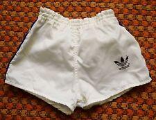 Adidas Treofil vintage Polyamid White Blue Shorts, Western Germany, Kids 128