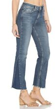NEW Paige Denim Pieced Colette Cropped Jeans Size 24 Kenya Distressed