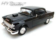 MOTORMAX 1:18 1955 CHEVROLET BEL AIR WITH HOOD SCOOP  DIE-CAST BLACK  79001