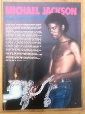 MICHAEL JACKSON 'rope' magazine PHOTO/Poster/clipping 11x8 inches