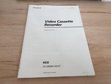 originale pour Sony mode d'emploi EV-S9000E dans italien