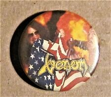 Venom Ultra Rare 80'S American Flag Round Pin Black Metal