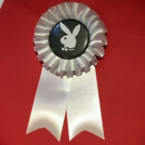 Playboy Bunny Rosette, costume, Satin ribbon, pin back Can be personalised