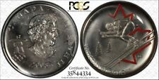 "2008 Can 25C PL66 Alp Ski Pop ""1"" FIRST/ONLY PCGS ""MULE"" - RicksCafeAmerican.com"