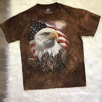 American Bald Eagle Bird Shirt The Mountain USA Flag Patriotic Size Medium M