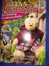 Teddys und Teddys kreativ Teddyzeitschrift mit Schnittmuster zum Selbernähen