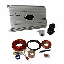 Lanzar 4000 Watt 4 Channel Bridgeable Car Audio Amplifier + 0 Gauge Wiring Kit