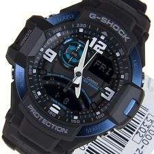 *NEW* CASIO MENS G SHOCK AVIATION BLUE WATCH TWIN SENSOR GA1000-2B RRP£259