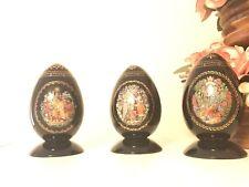 Set of 3 Porcelain Russian Fairy egg