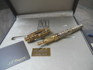 S.T. DUPONT NEW YORK 5TH AVENUE LIMITED EDITION GOLD OLYMPIO LARGE FOUNTAIN PEN