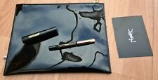 YSL Black Patent Cosmetic Bag Gift Set. New