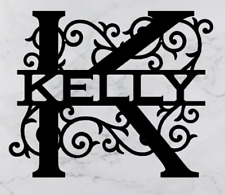 Personalised Family Name Letter 'K' Metal House Sign, Wedding Gift, Monogram