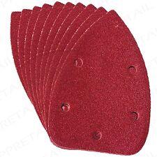 10 Pack SILVERLINE VELCRO DETAIL SANDER SHEETS 140mm Ultra Fine 240 Grit Palm
