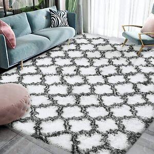 Fluffy Bedroom Rug Soft Shaggy Plush Carpet 4X6 ft Shag Velvet Moroccan Area Rug