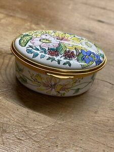 Kingsley Enamels Worcestershire Hand Painted Trinket Box With Quote