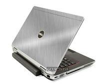 BRUSHED ALUMINUM Vinyl Lid Skin Cover fits Dell Latitude E6520 E6530 Laptop