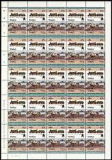 1892 GWR LORD OF THE ISLES Achilles Train 50-Stamp Sheet (Leaders of the World)