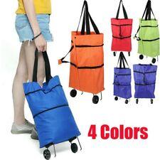 Shopping Trolley Cart Bag Foldable Wheels Carts Bags Market Luggage Basket Bags