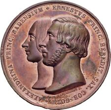 Baden Sachsen-Coburg-Gotha Hochzeit 1842 Bronze 45 mm/ 48,4 g   #LPS123