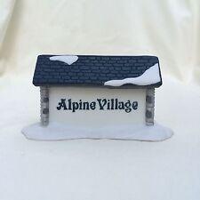 Department 56 Alpine Village Sign Handpainted w Box Heritage Village Collection