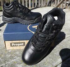 Propet Cliff Walker black leather walking  hiking shoes 12 NIB