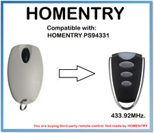 HOMENTRY PS94331 Compatible Remote Control 433.92MHz.