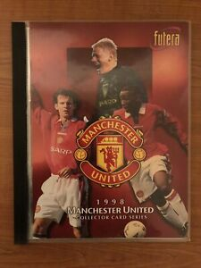 Futera Manchester United 1998 Football trading card complete Base Set In Binder