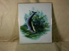 Original Art Work Print Signed Vic Erickson Rainbow Trout