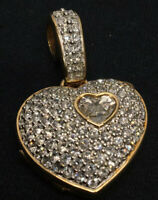 Genuine SWAROVSKI Crystal Encrusted Swan Signed Vintage Heart Locket Pendant